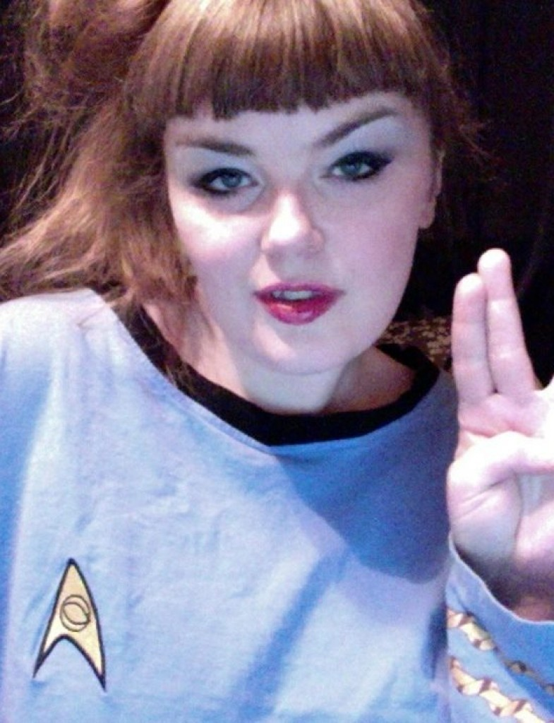 Carrie Gates as a Vulcan from Star Trek
