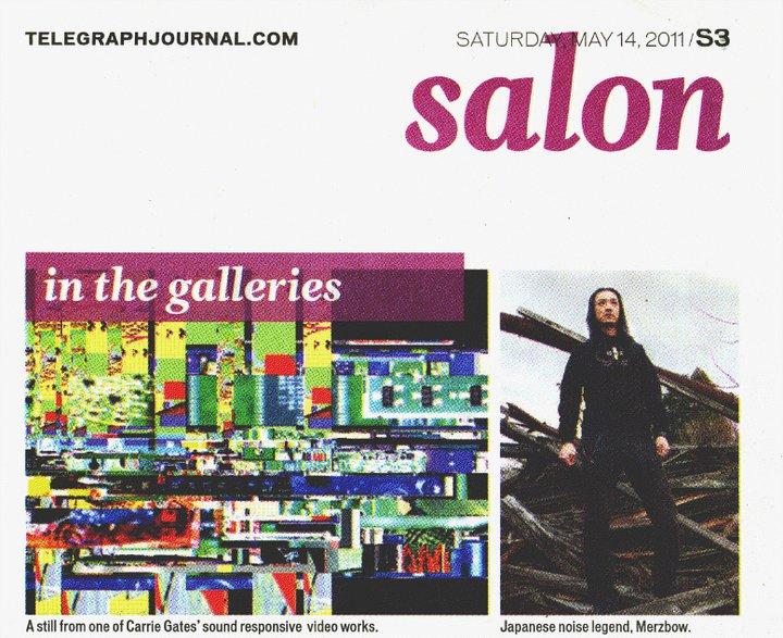 Telegraph Journal - RE:FLUX Festival - Carrie Gates and Jon Vaughn, Merzbow - May 2011