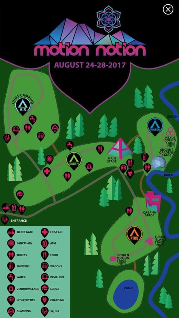Motion Notion 2017 - Map